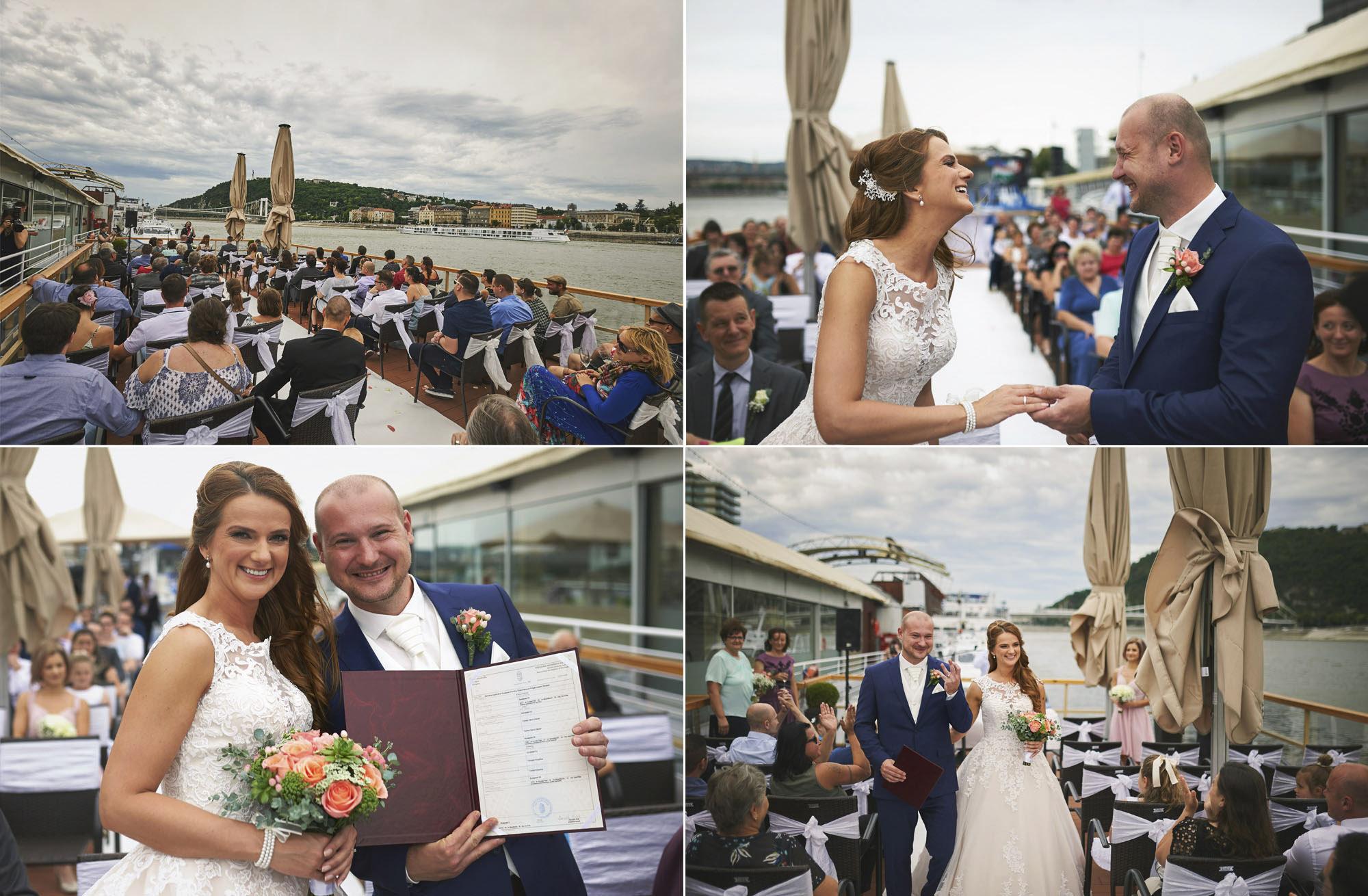 Esküvő fotózás a Columbus hajón