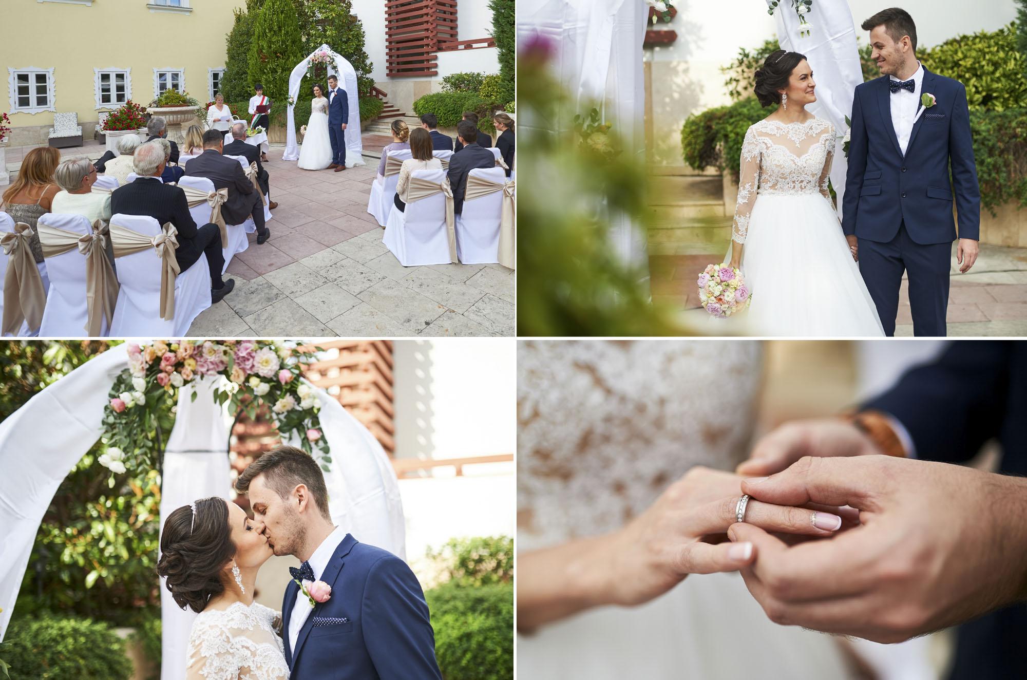 Esküvői fotózás Tatán a Kristály Hotelban